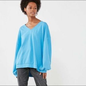 BDG Oversized V-Neck Pullover Top